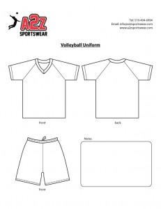 Point Volleyball Uniform Template